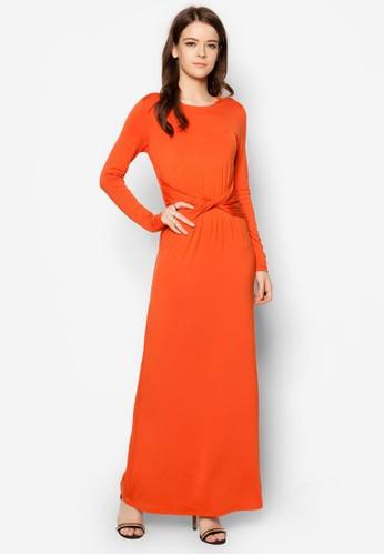 Swerve 長袖連身長裙zalora 衣服尺寸, 服飾, 洋裝