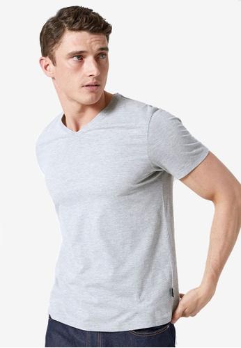 Burton Menswear London 灰色 麻灰色 V領T恤 AE7CAAA830F126GS_1
