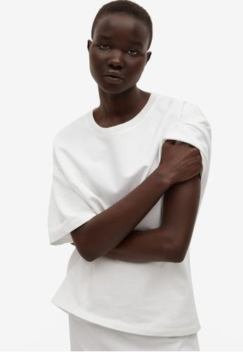 Mango white Cut-Out Back Cotton T-Shirt 746C2AA20670E6GS_1