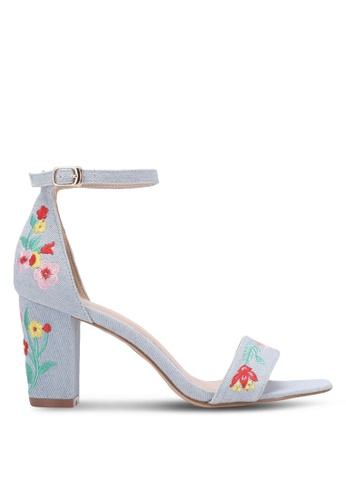 VINCCI blue Embroidered Strap Heels VI831SH0S52QMY_1