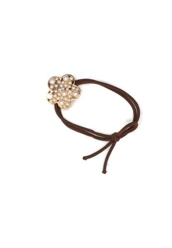 Istana Accessories brown Ikat Rambut Yurra Flower Fashion Pearl 3036BBE3D183D0GS_1