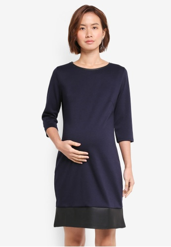 Envie De Fraise navy Maternity Joss 3/4 Sleeve Dress 086BBAAA33663CGS_1