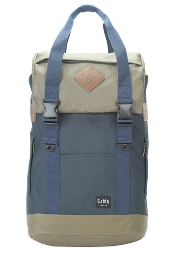 G.ride green and navy Arthur M Backpack 0E73BAC734B749GS_1