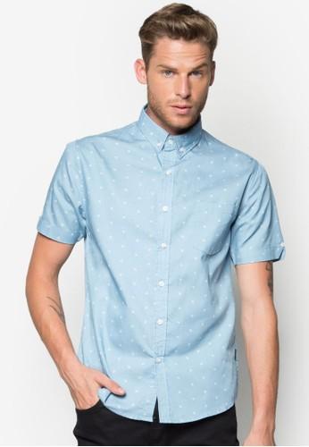 Jake 印花短袖襯衫, 服飾, esprit官網印花襯衫