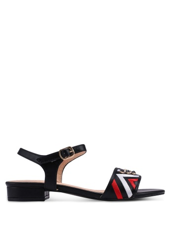 Something Borrowed black Ankle Strap Sandals 930B5SH3301431GS_1