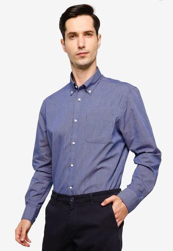 OVS blue Regular Fit Micro Check Shirt 6D6A6AA3F8EE6EGS_1