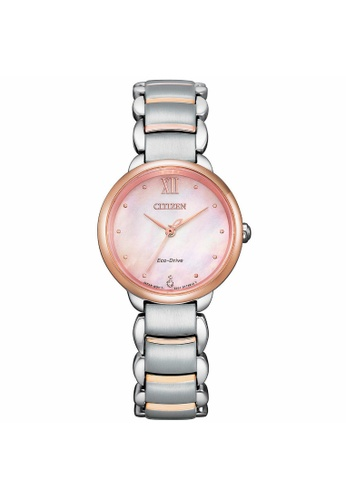 Citizen silver CITIZEN EM0924-85Y ECO-DRIVE PINK MOTHER OF PEARL STAINLESS STEEL WOMEN'S WATCH 0E4FAAC92C022DGS_1