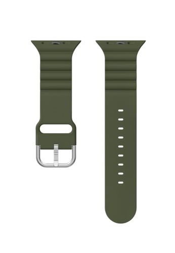 Kings Collection green Dark Green Silicone Apple Watch Band 38MM / 40MM (KCWATCH1069) 56505AC2F33991GS_1