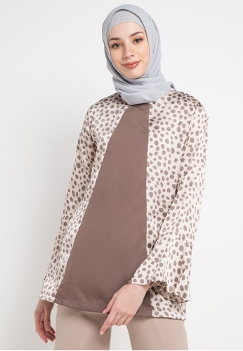 Aira Muslim Butik multi and brown Julia Top CE76FAA494DDA7GS_1