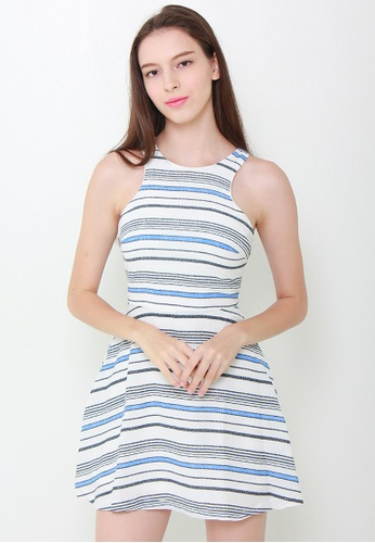 Leline Style blue Sanya Stripes Dress LE802AA14HLPSG_1