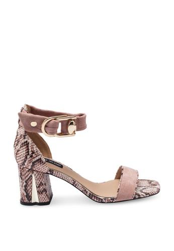 0bd08e23160 Snake Print Block Heels