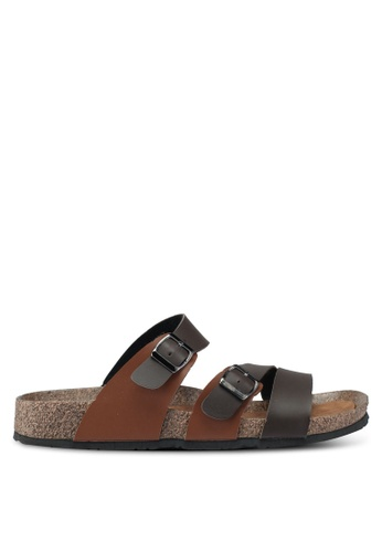 Bata brown Casual Strappy Sandals CAE84SH512AEF2GS_1