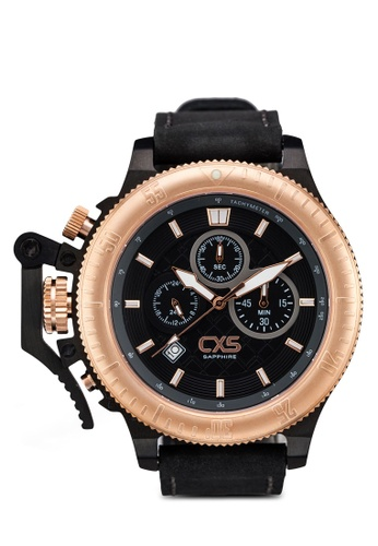 Carlo Cardini black and gold Carlo Cardini CX5 004G-RG-4 Gents Watch CA038AC52LDZMY_1
