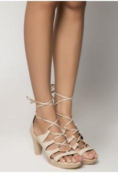 Monique Lace Up Heels