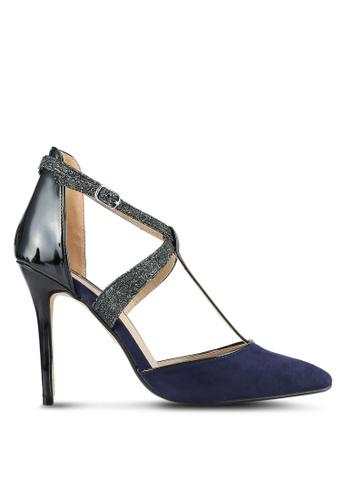 Dorothy Perkins 藍色 海軍藍 Gloria T-Bar Court 高跟鞋 DO816SH0SB6XMY_1