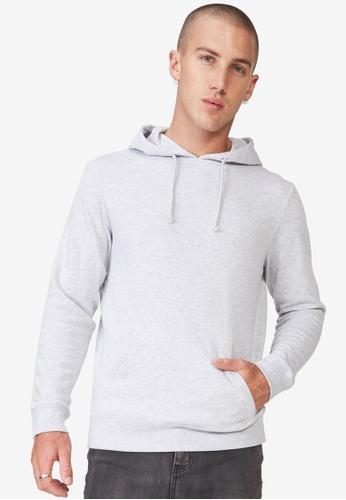 Cotton On 灰色 Fleece Pullover Hoodie A8DEFAAE6AE47DGS_1
