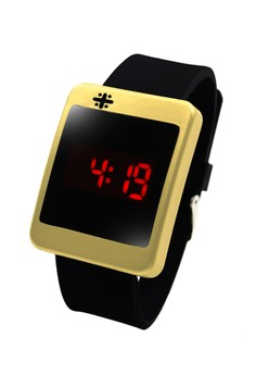 Crux Square Touch LED Unisex Silicon Strap Watch