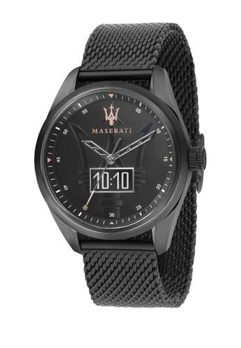 Maserati black Traguardo Smart Quartz Watch Black Metal Band R8853112001 6932BACA11526CGS_1