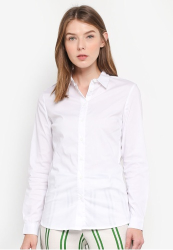 OVS white Long Sleeve Shirt F009AAA91E24BCGS_1