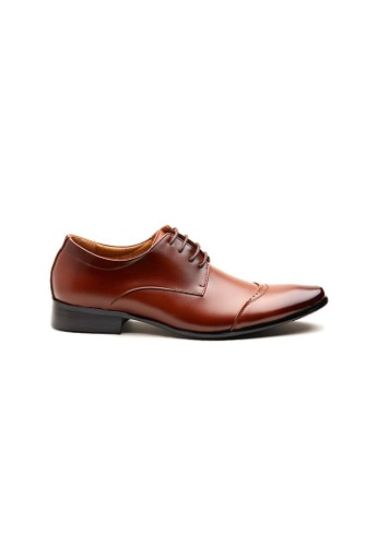 Kings Collection brown Manson Leather Shoes FD686SHD0F5248GS_1