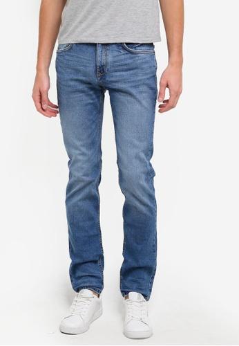 MANGO Man blue Slim-Fit Medium Wash Tim Jeans MA449AA0S37MMY_1