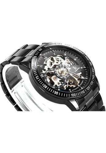 Ik Colouring lk Colouring Men Automatic Movement Mechanical Watch Black Strap Transparent Glass IK781AC21MTIMY_1