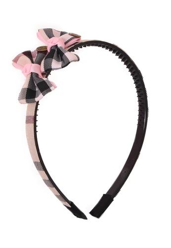 Adkidz black Adkidz Handmade Hairband with two bows 998E1KCC03B6ACGS_1