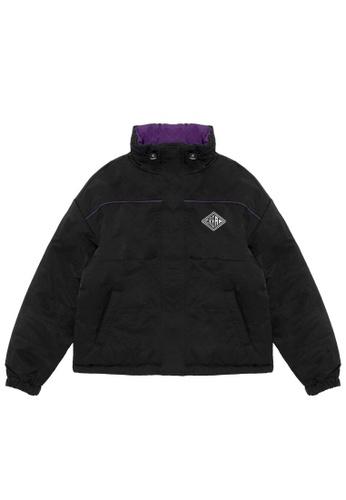 Mini cream black Reversible logo jacket CFAB9AA4AB278FGS_1