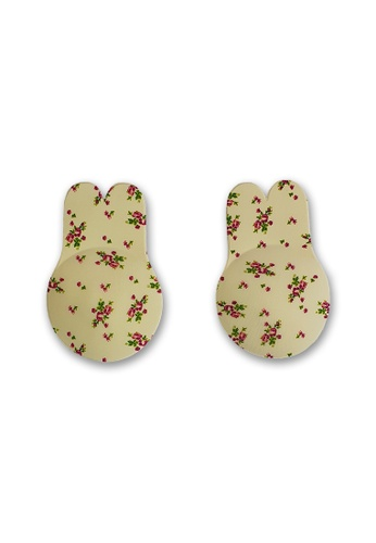 PINK N' PROPER multi Ultimate Rabbit Ears Reusable Adhesive Boob Lift Up Bra in Floral 43A84USC223CEEGS_1