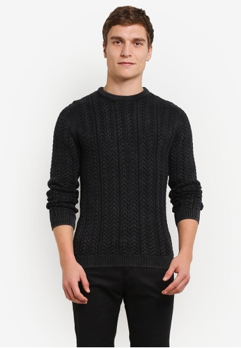 Only & Sons black Only & Sons Hugo Washed Knit Jumper ON662AA0S496MY_1