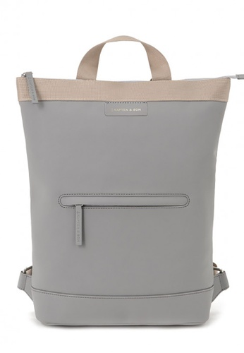 Kapten & Son grey Umea backpack - Sand Grey 02A9CACCD320D9GS_1