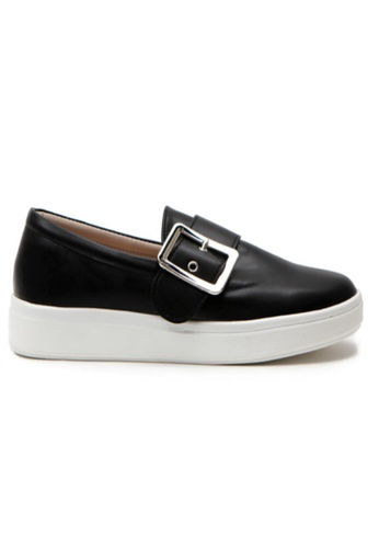 Crystal Korea Fashion black Korean New Versatile Comfortable Slip-Ons C9522SH2D38D63GS_1