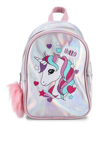 LC Waikiki pink Girl's Printed Backpack 8A64BKCFDA3BB3GS_1
