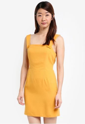 Miss Selfridge yellow Ochre Pinafore Dress C35E4AA20E9548GS_1