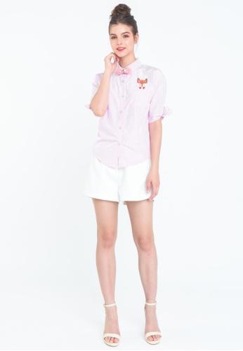 L'zzie pink EL FOX SHIRT - PINK FCC49AA43BE57CGS_1