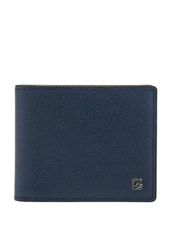 Louis Quatorze navy Men's Leather Wallet LO321AC94BRXSG_1