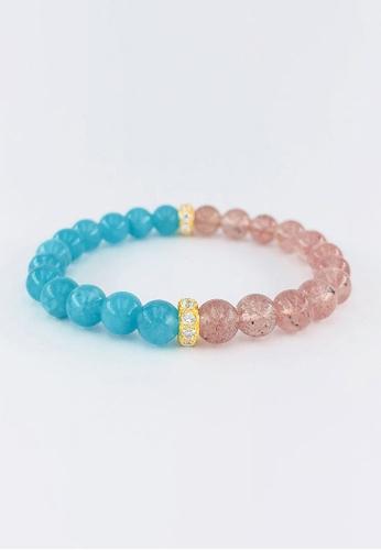Arthesdam Jewellery gold Arthesdam Jewellery 916 Gold Blue VS Pink Quartz Bracelet F571FAC0FB5535GS_1
