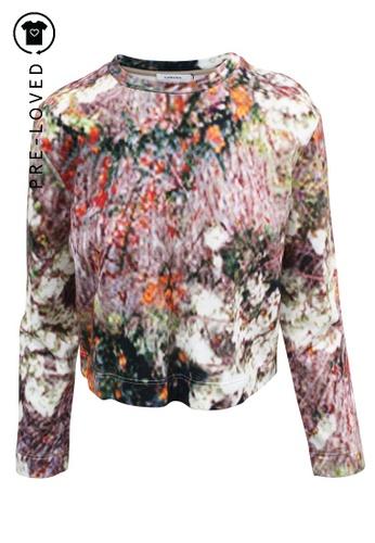 Carven multi Pre-Loved carven Multicolore  Digital Print Sweatshirt E45BEAA11A908AGS_1