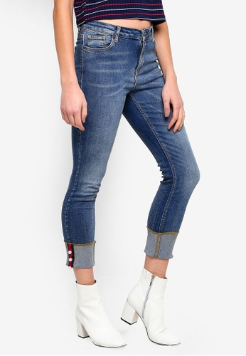 LC Waikiki 藍色 丹寧珍珠細節牛仔褲 631A0AA7190781GS_1