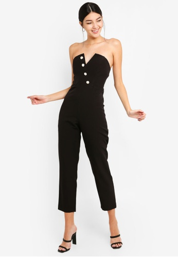 2fa789ac7bae12 Buy Miss Selfridge Bandeau Pearl Jumpsuit Online on ZALORA Singapore
