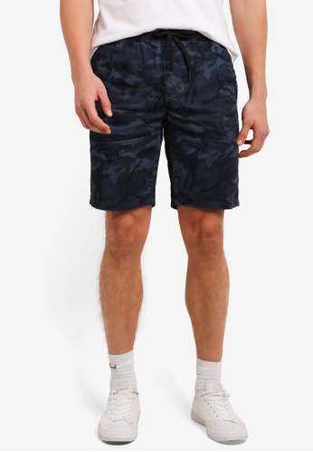 UniqTee grey and blue Chino Shorts With Elastic Waistband UN097AA0S224MY_1