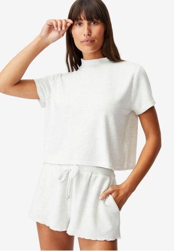 Cotton On Body grey Super Soft Lounge T-Shirt AAE8BAA3119A67GS_1