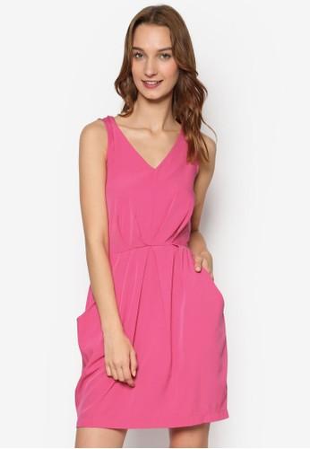 這是束腰口袋無袖salon esprit 香港連身裙, 服飾, 洋裝