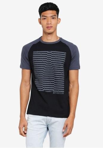 Fidelio 黑色 短袖印花T恤 0525AAA1C7580FGS_1