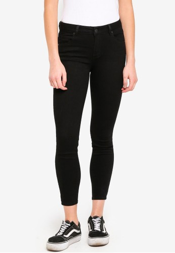 Cotton On black Mid Rise Grazer Skinny Jeans 1FFABAAD6296F9GS_1