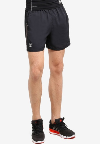 FBT black Running Shorts FB961AA45WNYMY_1