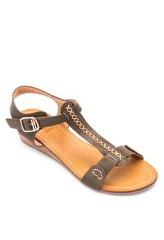 Vernis Wedge Sandals