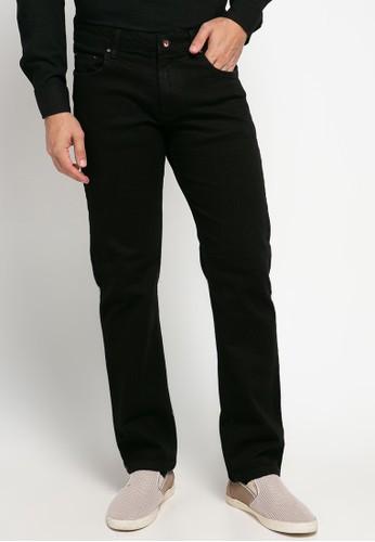 Jimmy Martin black 5 Pocket Retro Blck Dyed Regular Stretch Denim Pants C0125AAA0EFA24GS_1