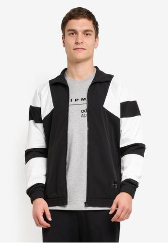 adidas black and white adidas originals track jacket AD372AA0SHYGMY_1