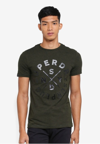 b98853f9 Superdry green Surplus Goods Short Sleeve Graphic Tee A1BD4AA1AF53A0GS_1
